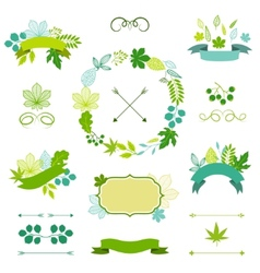 Set of stylized ribbons and labels vector image