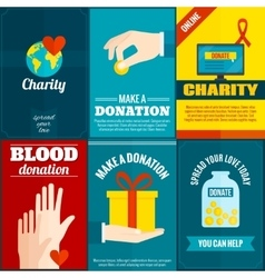 Charity posters set vector