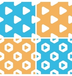 Play button pattern set colored vector