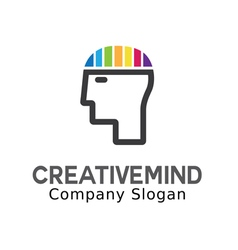 Creative mind design vector