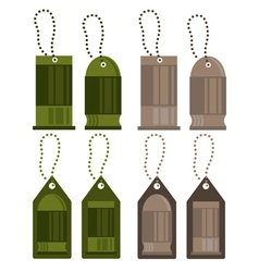 Tags with bullets design set vector