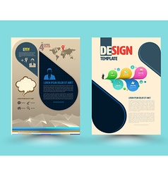 Brochure template design with new smartphone vector