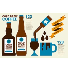 Cold brew coffee vector