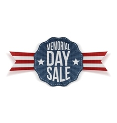 Memorial Day Sale national Emblem with Ribbon vector image