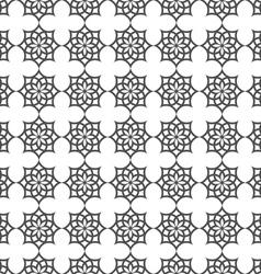 Monochrome seamless pattern in islamic motif vector image