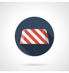 Road barrier round flat icon vector