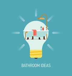 Room ideas for a bathroom vector