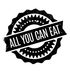 All you can eat rubber stamp vector