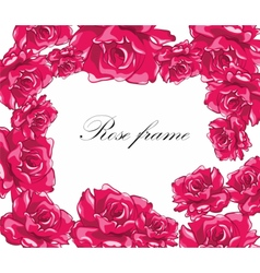Beautiful Photo Frame with roses vector image