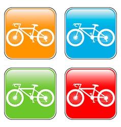 Bike buttons set vector