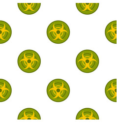 Biohazard symbol pattern seamless vector