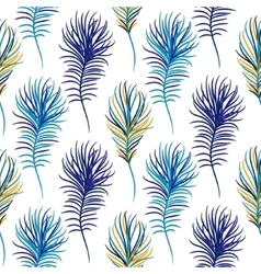 Bird blue seamless pattern vector image vector image