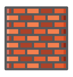 brick wall colorful line icon security and build vector image