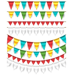 Buntings - Garlands vector image