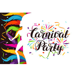 carnival party background with samba dancer and vector image vector image