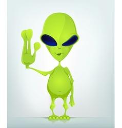 Cartoon Character ALIEN 039 CS5 vector image