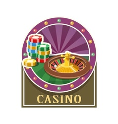 Casino roulette and counter vector