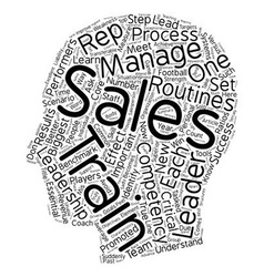 Characteristics of a true sales leader text vector
