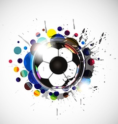 colorful footballs vector image