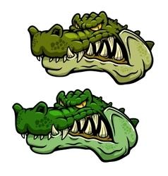 Crocodile character head with bared teeth vector image vector image