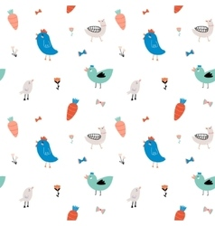 Cute scandinavian seamless pattern vector image