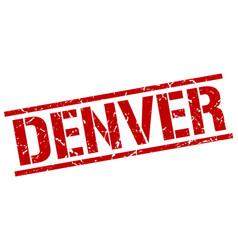 Denver red square stamp vector