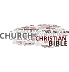 Evangelism word cloud concept vector