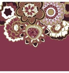 Floral decorative border in trendy colors vector image vector image