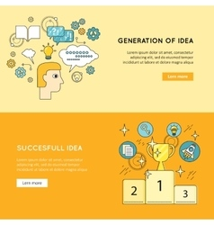 Generation successful idea banners vector