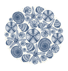 Hand drawn maritime print vector
