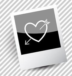 heart and arrow vector image