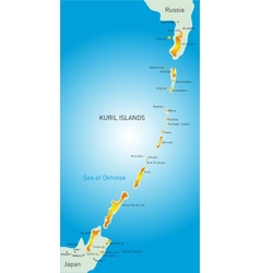 Kuril island vector