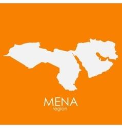 Mena region map vector