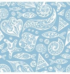 Nautical Sketch Pattern vector image vector image