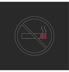 No smoking sign No smoke icon vector image