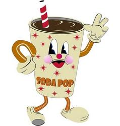nostalgic soda vector image