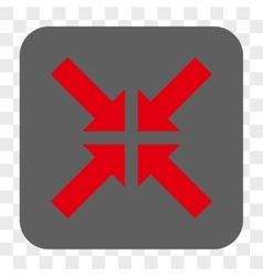 Pressure arrows rounded square button vector