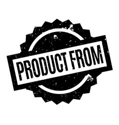 product from rubber stamp vector image