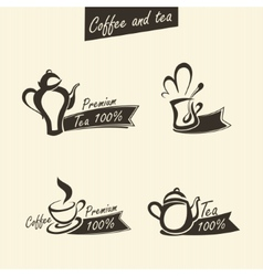 signs of tea vector image vector image
