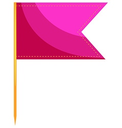 Single food flag in pink vector image