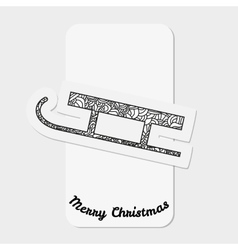 Sled of santa claus christmas collection vector