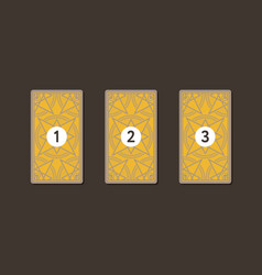 Three tarot card spread reverse side vector