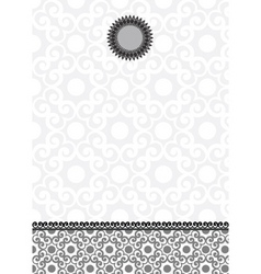 vector ornate lace background and frame vector image vector image