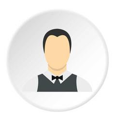 Waiter icon circle vector