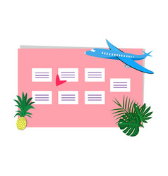 Weekly planner with place for notes vector