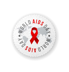 world aids day emblem vector image vector image