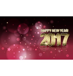 Year 2017 blurred glitter abstract background vector image