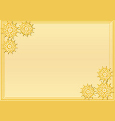 yellow frame with stylized geometric flower in vector image vector image