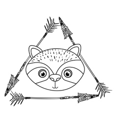 Raccoon animal cartoon design vector