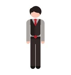 Full body man formal suit tie vector
